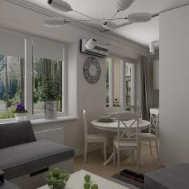 Трёхкомнатная квартира в Москве 78 кв.м