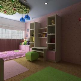 дизайн интерьера детской для девочки