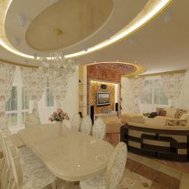 Гостинная-кухня 240 кв. м.