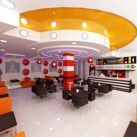 Дизайн интерьера кафе в Пензе