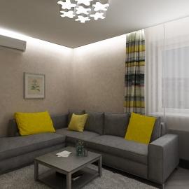 Квартира студия 46 кв.м.в Фаворите на Мира