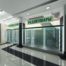 Дизайн интерьера магазина в Заречном