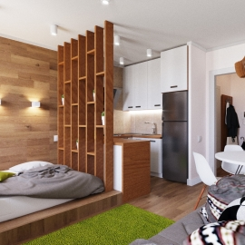 Квартира студия 29 кв.м. на ул. Ладожской