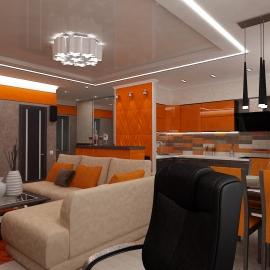 Трёхкомнатная квартира 74 кв.м.на Мира