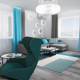трёхкомнатная квартира в Ж.К. Прелестный 120 кв.м
