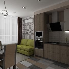 Двухкомнатная квартира 49 кв.м. в Фаворите на Мира