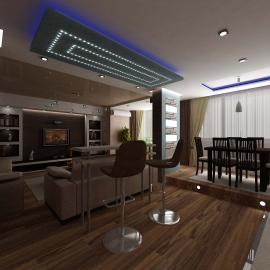 Трёхкомнатная квартира 116 кв. м. на ул. Пушкина