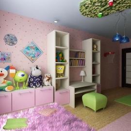 дизайн интерьера детской для девочки в Пензе