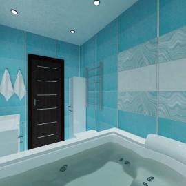 разработка дизайна интерьера ванной