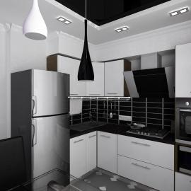 Гостинная-кухня 45 кв.м
