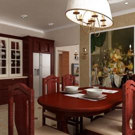 Гостинная кухня 80 кв.м