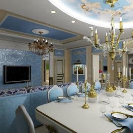 Гостинная-кухня 81 кв. м. 1 Проезд