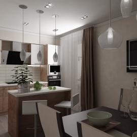 Трёхкомнатная квартира 05 кв.м. на Суворова