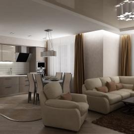 Трёхкомнатная квартира на Антонова